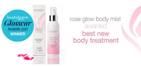 Kosmea rose glow body mist award
