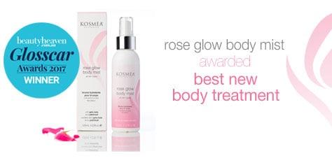 Kosmea rose glow body mist award