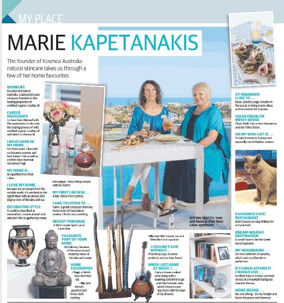 Marie Kapetanakis in Sunday Mail