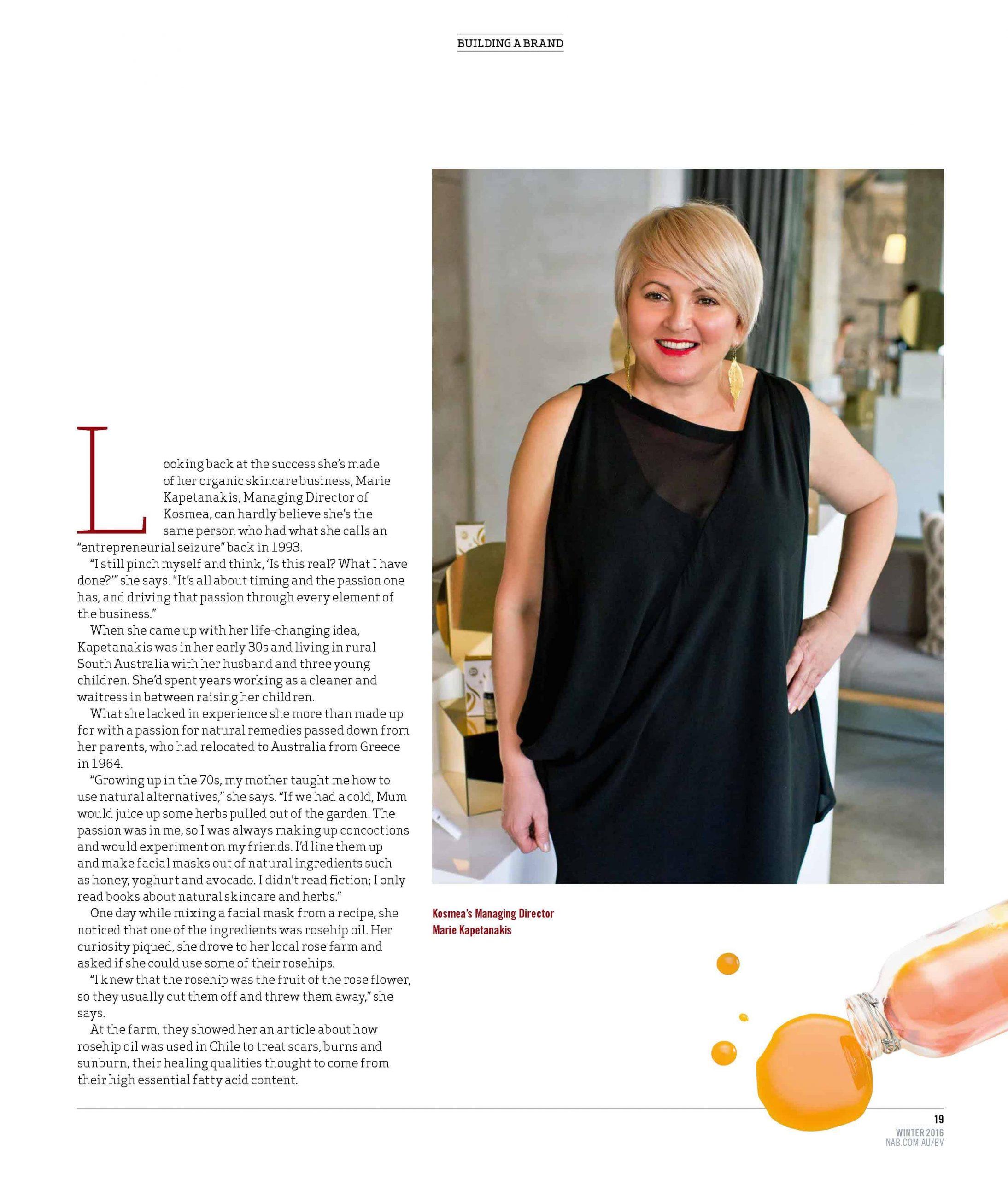 Kosmea in NAB business magazine