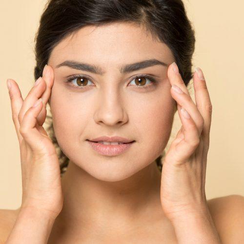 Close,Up,Headshot,Portrait,Of,Beautiful,Indian,Millennial,Girl,Posing